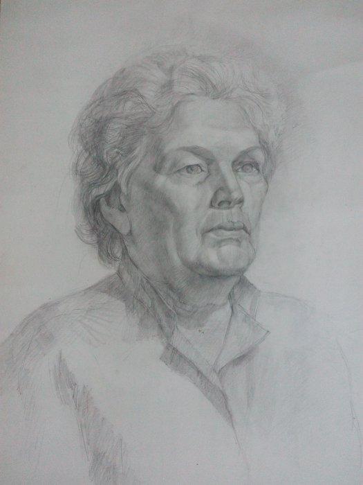 Пиногорова Татьяна ПОРТРЕТ Бумага, карандаш, 56х43 см, 2017